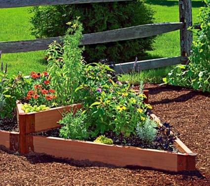 Terraced Triange Raised Bed traditional outdoor planters