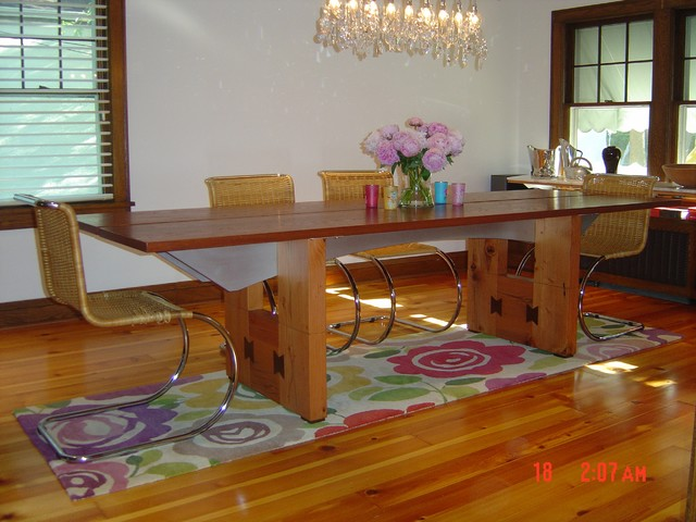 1926 Tudor remodeling-modernization modern-dining-room