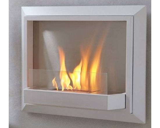 """Real Flame White Envision Wall Ventless Fireplace - Dimension: 30.1"""" L x 24.3"""" H x 7.3"""" W"""