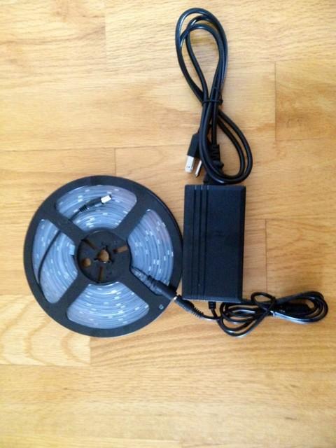 White Color Flexible LED Strip Light Complete Kit (16.4 feet, Waterproof) ceiling-lighting