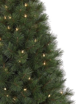 Potted White Pine Artificial Christmas Tree