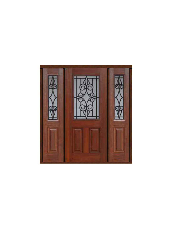 "Prehung Sidelights Door 80 Fiberglass Salento 1/2 Lite GBG Glass - SKU#    MCT012WSA_DFHSAG1-2Brand    GlassCraftDoor Type    ExteriorManufacturer Collection    1/2 Lite Entry DoorsDoor Model    SalentoDoor Material    FiberglassWoodgrain    Veneer    Price    3780Door Size Options    32"" + 2( 14"")[5'-0""]  $032"" + 2( 12"")[4'-8""]  $036"" + 2( 14"")[5'-4""]  $036"" + 2( 12"")[5'-0""]  $0Core Type    Door Style    Door Lite Style    1/2 LiteDoor Panel Style    2 PanelHome Style Matching    Door Construction    Prehanging Options    PrehungPrehung Configuration    Door with Two SidelitesDoor Thickness (Inches)    1.75Glass Thickness (Inches)    Glass Type    Double GlazedGlass Caming    Glass Features    Tempered glassGlass Style    Glass Texture    Glass Obscurity    Door Features    Door Approvals    Energy Star , TCEQ , Wind-load Rated , AMD , NFRC-IG , IRC , NFRC-Safety GlassDoor Finishes    Door Accessories    Weight (lbs)    527Crating Size    25"" (w)x 108"" (l)x 52"" (h)Lead Time    Slab Doors: 7 Business DaysPrehung:14 Business DaysPrefinished, PreHung:21 Business DaysWarranty    Five (5) years limited warranty for the Fiberglass FinishThree (3) years limited warranty for MasterGrain Door Panel"