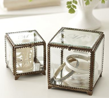 Elaine Glass Display Box, Small - Traditional - Decorative Boxes - by Pottery Barn