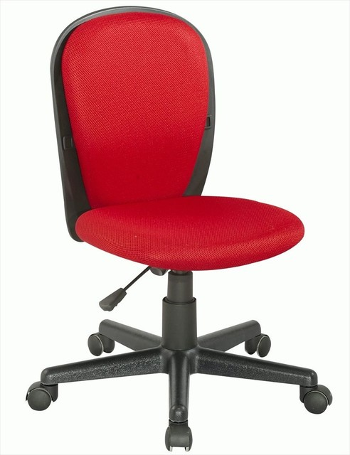 Fabric Back and Seat Youth Desk Chair in Red task-chairs