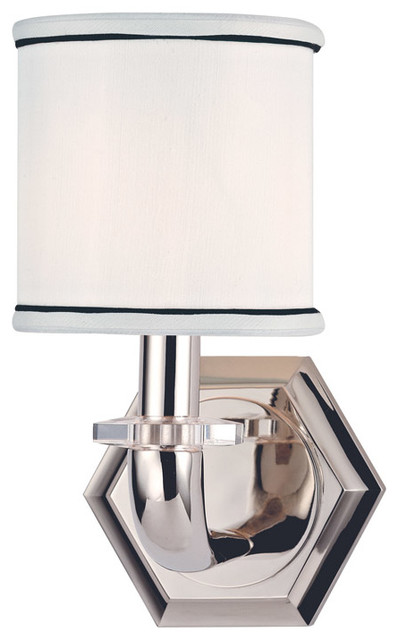 Hudson Valley Lighting 5321-PN Rock Hill 1 Light Wall Sconces in Polished Nickel traditional-wall-sconces