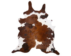 Cowhide Brown and White Rug modern-rugs