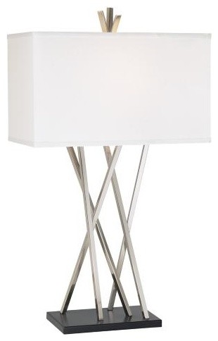 Possini Euro Design Asymmetry Table Lamp contemporary table lamps