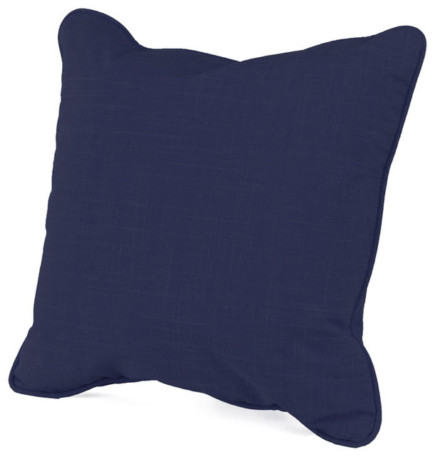 Oilo - 16 x 16 Solid Cobalt Pillow modern pillows