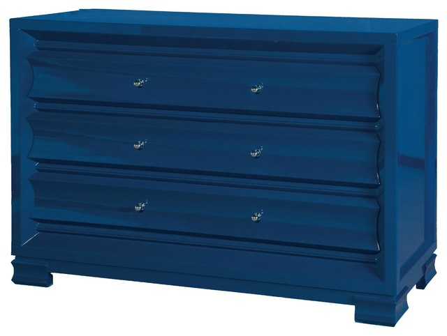 bungalow 5 paramount extra large 3 drawer chest in navy. Black Bedroom Furniture Sets. Home Design Ideas