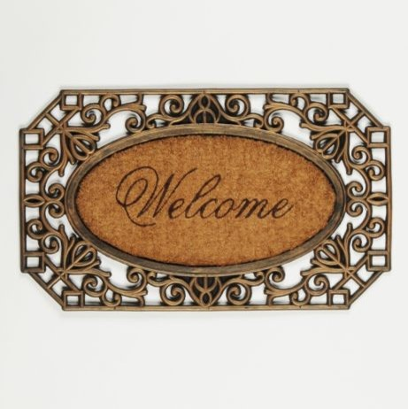 Scroll Welcome Mat traditional doormats