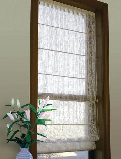 Clear Wiggle roman shade modern roman blinds