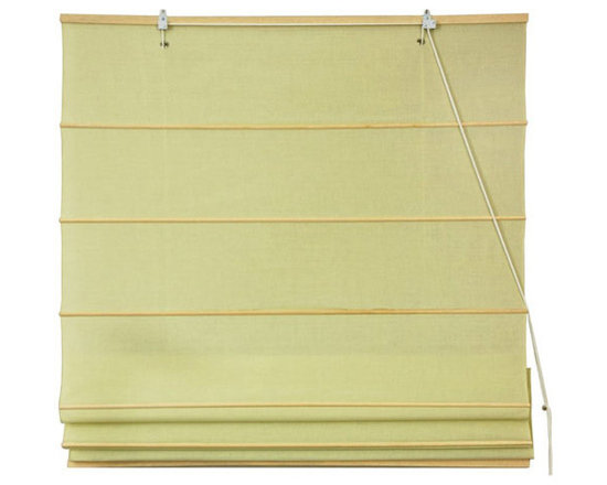 Oriental Furniture - Cotton Roman Shades - Yellow Cream 72 Inch, Width - 72 Inches - - These Yellow Cream colored Roman Shades combine the beauty of fabric with the ease and practicality of traditional blinds.  They are made of 100% cotton and are available in seven other stylish colors.   Easy to hang, easy to open and close.  Also available in Cream, Light Green, Light Brown, Dark Green, Black, Red or Pink.  Available in five practical sizes, 24W, 36W, 48W, 60W and 72W.  All sizes measure 72 Tall. Oriental Furniture - WT-YJ1-1FC-72W