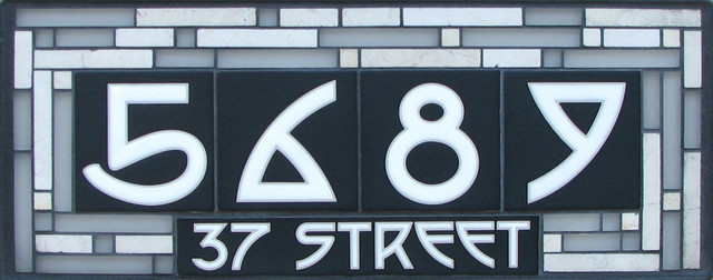 Cathedral Glass Series house-numbers