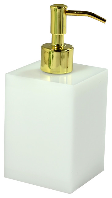 Ice lotion pump white gold pump contemporary bath and for White and gold bathroom accessories
