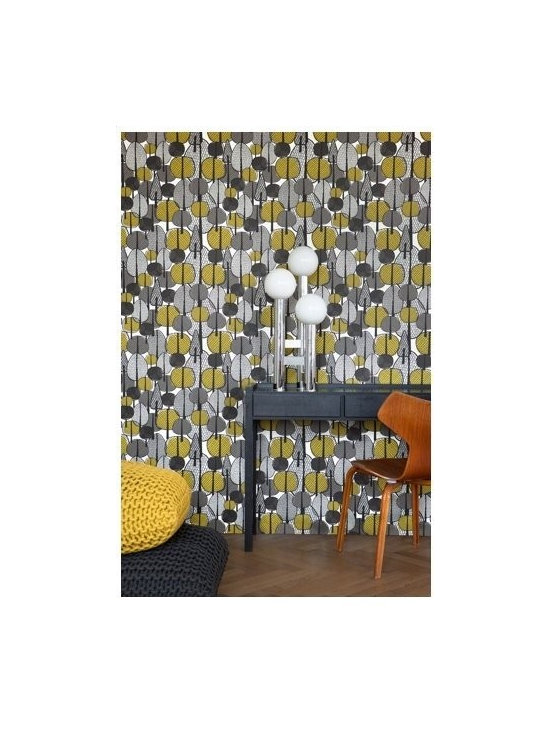 Ferm Living Gracewood Wallpaper - Ferm Living's Wallpaper is graphic & whimsical adding character, charm and personality to any room. Wallpaper has a striking effect and will without a doubt turn your room into a sanctuary.