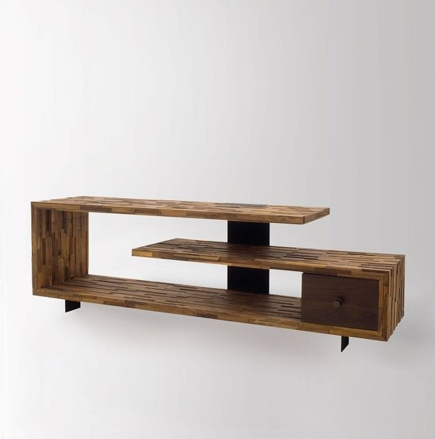 Jonah Reclaimed Wood TV Console Table Rustic