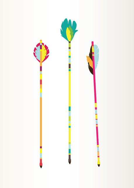 Arrows Art Print Colorful Illustration by Graphic Anthology contemporary artwork