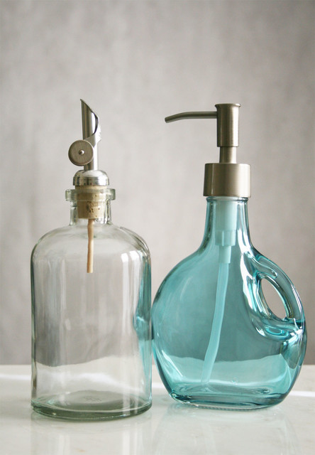 Recycled glass soap dispensers contemporary bathroom accessories
