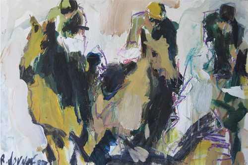 Contemporary Horse Racing Painting contemporary-artwork