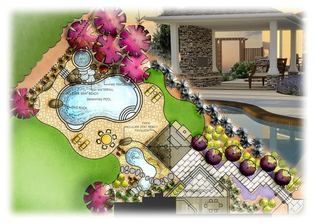 Contempory design meet natural beauty contemporary new for Landscape design site plan