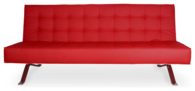 Wave Two Red Futon modern-futons