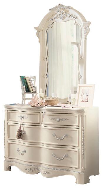 Lea Jessica Mcclintock 4 Drawer Dresser With Mirror In