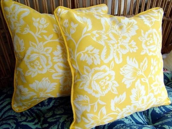 Lemon Yellow Outdoor Pillows Lemon Yellow Outdoor Pillows   Traditional   Outdoor  Pillows   By Etsy