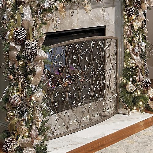 Etienne fireplace screen traditional fireplace accessories by frontgate - Houzz fireplace screens ...