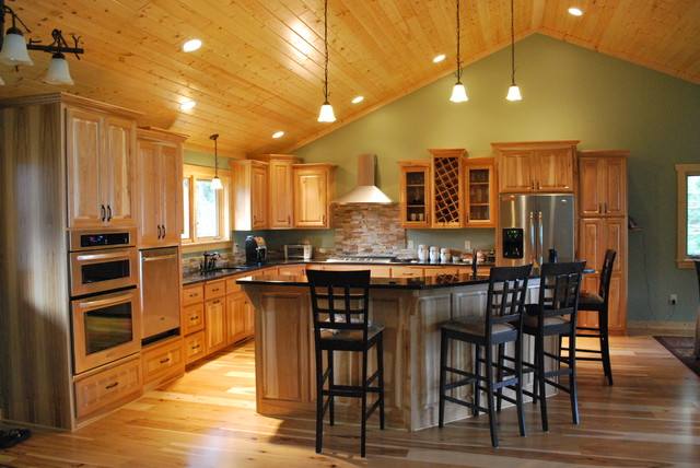 Country Kitchens With Hickory Cabi s further Kitchen Paint Colors