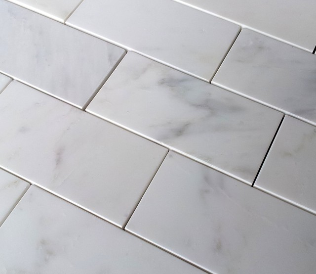 "$7.00SF Carrara Venato 3x6"" Polished Subway Marble Tile traditional-tile"