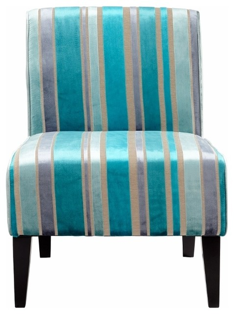 turquoise stripe modern slipper accent chair transitional living room chairs. Black Bedroom Furniture Sets. Home Design Ideas