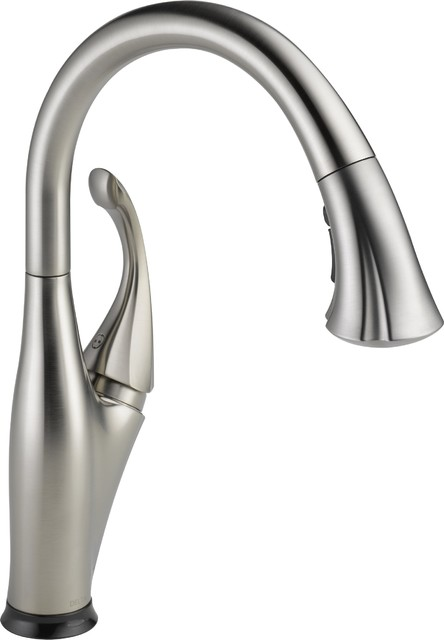 Delta 9192t Ss Dst Pull Out Spray Kitchen Faucets Contemporary Kitchen Faucets Denver By