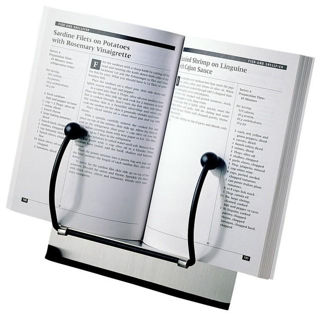 Steel Cookbook Holder Contemporary Cookbook Stands And