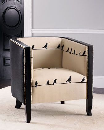 """Birds on Wire"" Chair traditional-chairs"