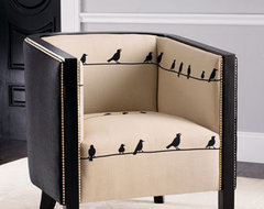 """Birds on Wire"" Chair traditional chairs"