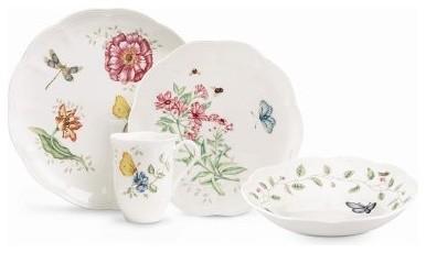 Lenox Butterfly Meadow Dinnerware - Set of 18 modern-dinnerware