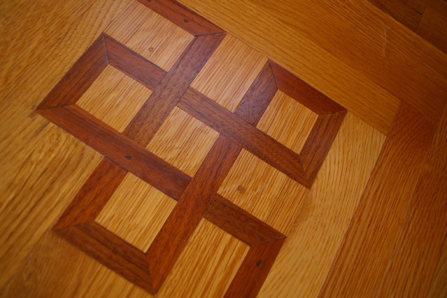 Wood Flooring Border Possibilities traditional