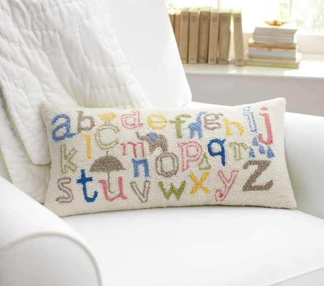Throw Pillow For Nursery : ABC Decorative Pillow - Contemporary - Nursery Decor - by Pottery Barn Kids