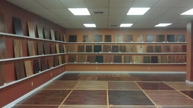 Showroom modern laminate flooring dallas by for Showroom flooring ideas