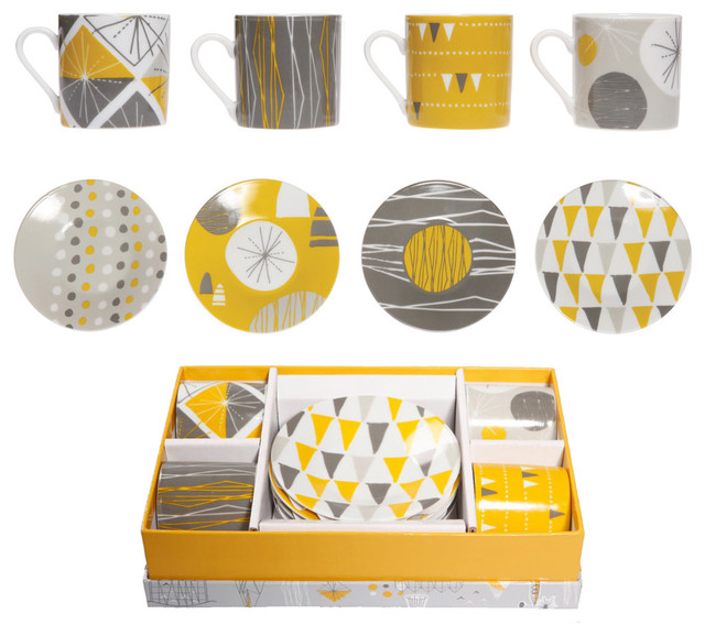 Mini Moderns: Festival Porcelain - Espresso Set  glassware
