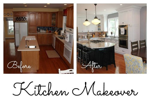 Kitchen makeover before and after for Kitchen cupboard makeover before and after