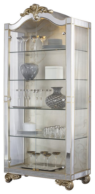 American Drew Jessica McClintock Couture Curio Cabinet transitional-storage-cabinets