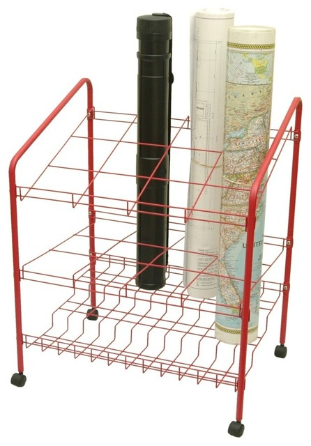 Adir Wire Bin Roll File 12 openings - Red - Pantry And ...