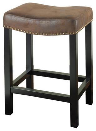 Tudor Wrangler Backless Barstool in Brown modern-bar-stools-and-counter-stools
