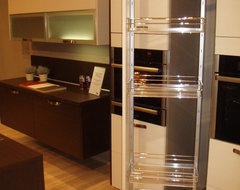 Rotating Pull-Out Drawers modern kitchen