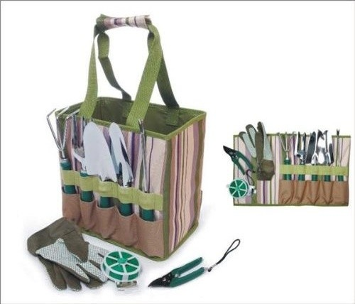 Picnic & Beyond Garden Tools Carry Bag With Accessories contemporary-gardening-tools