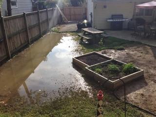 how do i prevent my garden from flooding