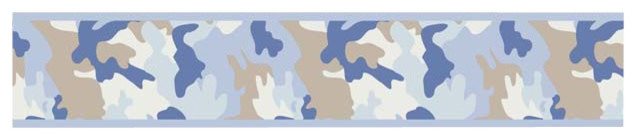 """Blue Camouflage Wall Paper Border (15' x 6"""") contemporary-wallpaper"""