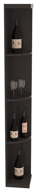 Quarter Round Wine Display in Pine, Black and Satin Finish contemporary-wine-racks