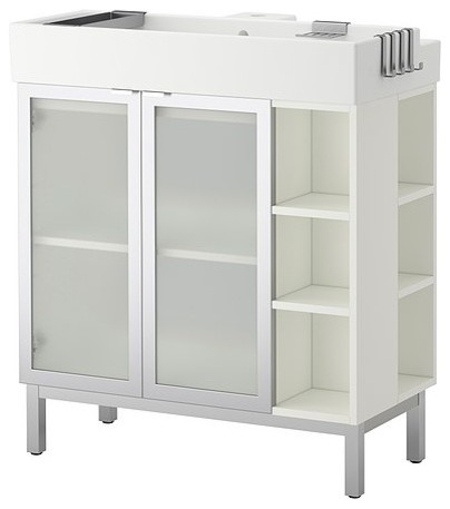 Lillången Sink Cabinet With 2 Doors and 2 End Units ...